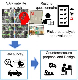 Slope movement monitoring service by use of SAR satellite